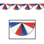 Red, White, and Blue Fan Garland