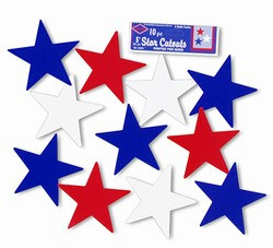 Star Cutouts, 5 inches (10/pkg)