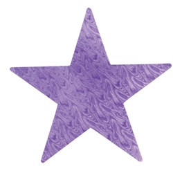 Purple Embossed Foil Star (5 inch)