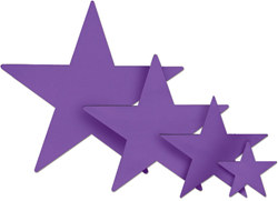 Purple Foil Star (5 inch)