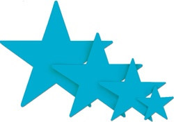 Turquoise Foil Star (5 inch)