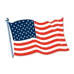 American Flag Cutout 25 in