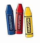 Crayon Cutouts, 24 inches (3/pkg)