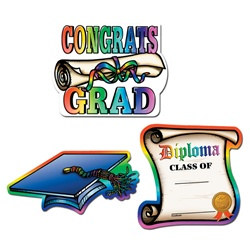Graduation Cutouts (3/pkg)