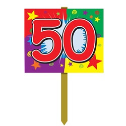 50th Birthday Yard Sign