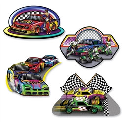 Race Car Cutouts (4/pkg)