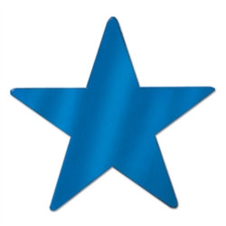 Blue Metallic Star Cutouts (12/Pkg)
