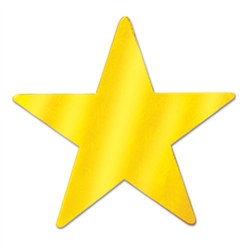 Gold Metallic Star Cutouts (12/Pkg)