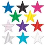 "Pack of 12 Metallic Star Cutouts 3 3/4"" (Choose Color)"