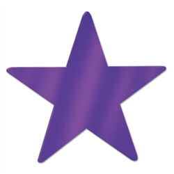 Purple Metallic Star Cutouts (12/Pkg)