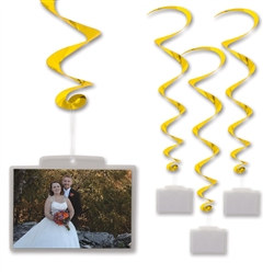 Gold Whirls with Clear Plastic Pocket (3/pkg)