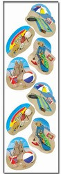 Summer Beach Party Stickers (2 sheets/pkg)