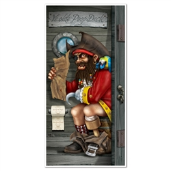 Pirate Captain Restroom Door Cover