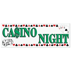 Casino Night Sign Banner