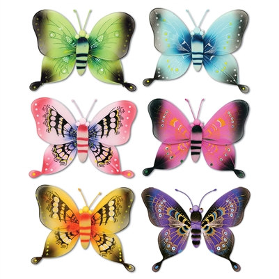 Assorted 3-D Nylon Butterflies (21½ inch)