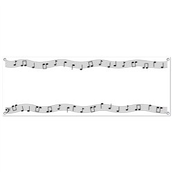 Musical Notes Sign Banner