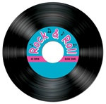Rock and Roll Record Coasters (8/pkg)