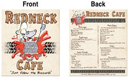 Road Kill Menu Cutout