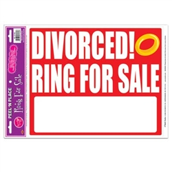 Divorced! Ring For Sale Peel N Place (1/sheet)
