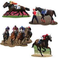 Horse Racing Cutouts (4/pkg)