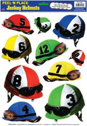 Jockey Helmets Peel N Place (10/sheet)