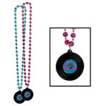 Beads with Rock and Roll Medallion (1/pkg)