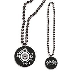 Beads with Welcome Race Fans Medallion (1/pkg)
