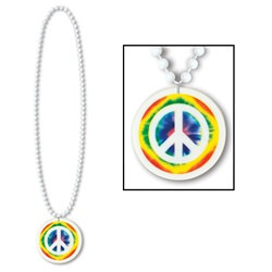 Peace Sign Bead with Medallion