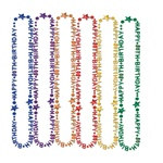 80th Birthday Beads (1/Pkg) (Asst Colors)