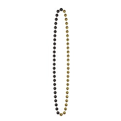 Black and Gold Jumbo Party Beads (1/pkg)