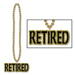 Gold Beads with Retired Medallion (1/pkg)