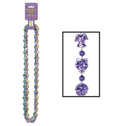Mardi Gras Mask Beads (3/pkg)