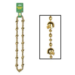 Gold football shaped bead necklaces