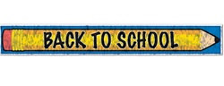 Metallic Back To School Fringe Banner