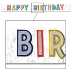 Metallic Happy Birthday Banner