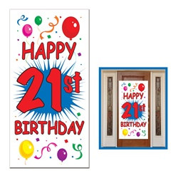 21st Birthday Door Cover