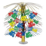 Multi-Color Happy Birthday Cascade Centerpiece
