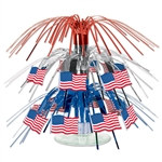 American Flag Mini Cascade Centerpiece