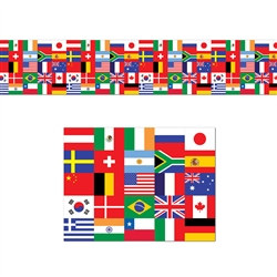 International Flag Poly Decorating Material