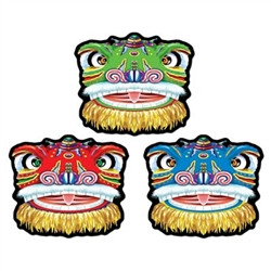 Chinese Lion Cutouts (3/Pkg)