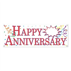 "Happy  ""Blank"" Anniversary Sign Banner"