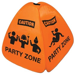 Party Zone Floor Sign