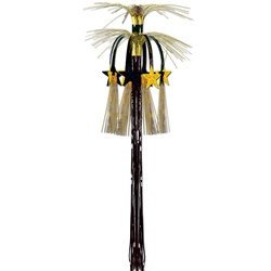 Black and Gold Star Cascade Hanging Column