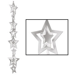 3-D Silver Prismatic Star Gleam N Garland
