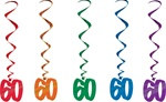 60 Hanging Whirl Decorations