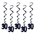 Black 30 Whirls (5/pkg)