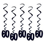 60th Whirls (5/pkg)