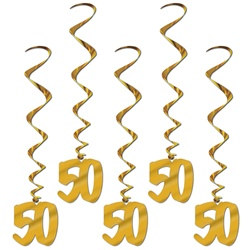 50th Anniversary Whirls (5/pkg)