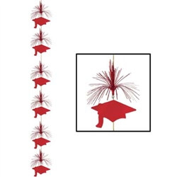 Red Graduation Cap Firework Stringer (1/pkg)