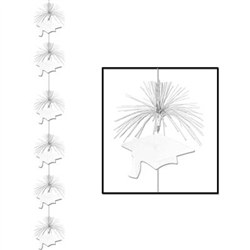 White Graduation Cap Firework Stringer